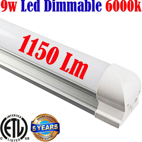 Led Under Cabinet Lighting Hardwired, Dimmable: Canada T8 2ft 9w 6000k - LED Light World