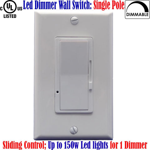 Dimmer Led: Canada Led Dimmable Switch Single Pole for Led Lights 150w