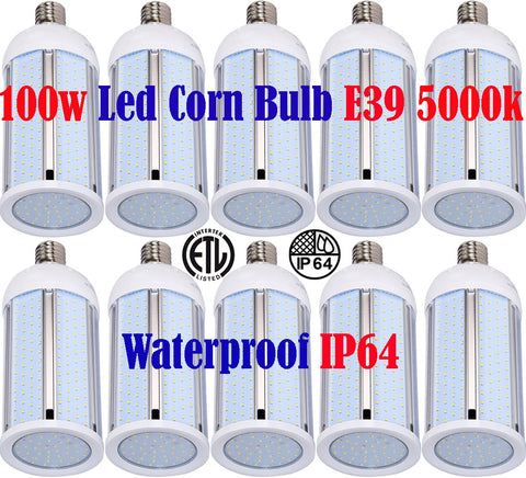 Large Led Light Bulbs, Canada 100w 10pack 5000k Corn Garage Shop Warehouse - LED Light World