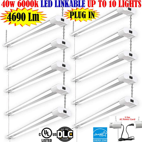 4 Foot Led Shop Lights, Canada 4ft 40w 10 Pack 6000k Bright Garage Office - LED Light World