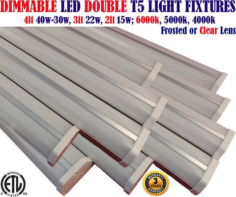 Linkable Led Shop Lights, Dimmable Canada: 10 Pack 4ft 40w 5000k Linkable Garage Office - LED Light Canada