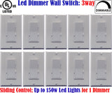 3 Way Dimmer Switch: Canada 10pack Led Three Way Dimmer Dimmable 150w - LED Light World