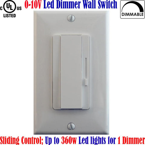 Led Dimmer Switch Canada: 0 10 Volt Dimmer Switch 360w Single Pole 3 Way - LED Light Canada