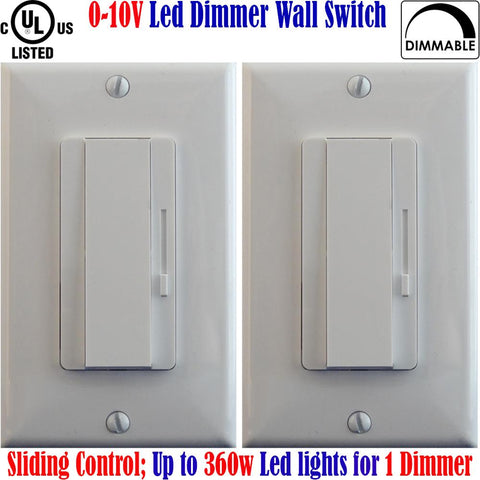 0 10 Volt Dimmer Switch: Canada 2pack 360w Dimmable Single Pole 3 Way - LED Light World