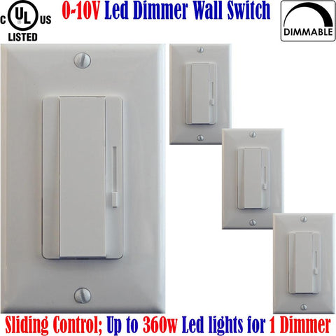 0 10v Led Dimmer: Canada 4pack 360w Led Dimmable Single Pole or 3 Way - LED Light World