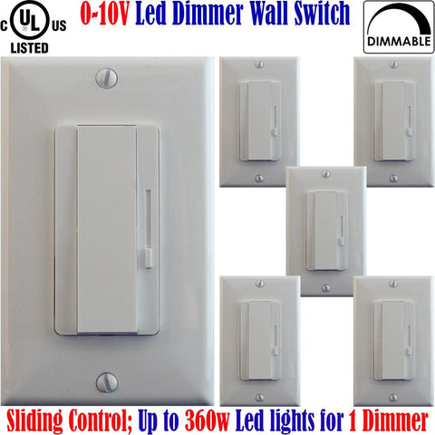 0 10v Dimmer Switch: Canada 6pack 360w Led Dimmable Single Pole 3 Way - LED Light World
