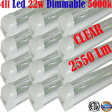 Dimmable Led Garage Lights, Canada T8 12pack 4ft 22w Clear 5000k Shop - LED Light World