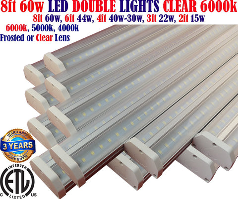 Led Shop Lights Canada: 8ft 12pack 60w Clear 6000k Garage Workshop Ceiling - LED Light Canada