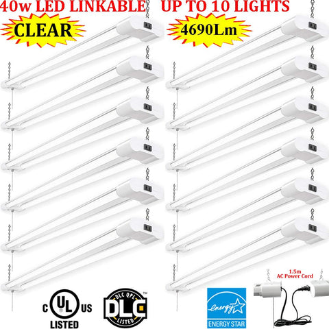 Industrial Led Shop Lights, Canada 4ft 40w 12 Pack Clear 6000k Garage Shop - LED Light Canada