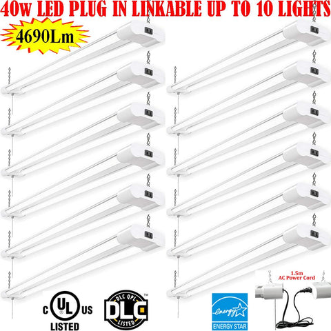 Led Shop Lights Canada: 4ft 40w 12pack 6000k Bright Commercial Garage Shop - LED Light Canada