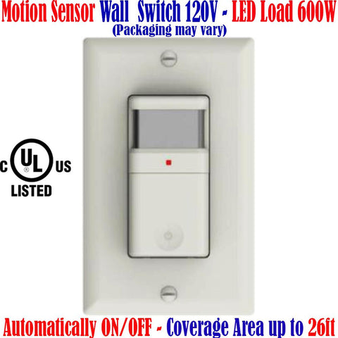 Motion Sensor Light Switch, Canada: Occupancy Detector 120V - LED Light World