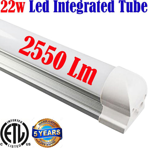 Plug In Led Lights: Canada T8 4ft 22w 6500k Brightest Workshop Garage Shop ETL - LED Light World