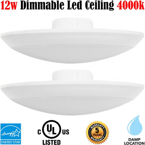 Flush Mount Shower Light, Canada: 2pack Led 12w 4000k Soffit Bathroom Hallway - LED Light World