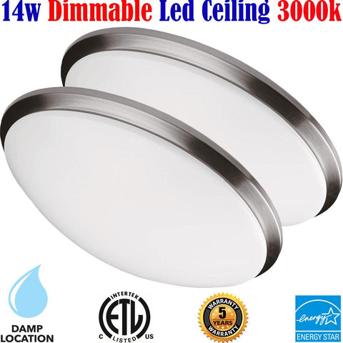 Flush Mount Lighting Canada: 2pack Led 14w 3000k Bedroom Bathroom 120V - LED Light Canada