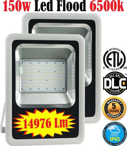 Industrial Flood Light: Canada 2 Pack 150w 6500k Brightest Industrial - LED Light World