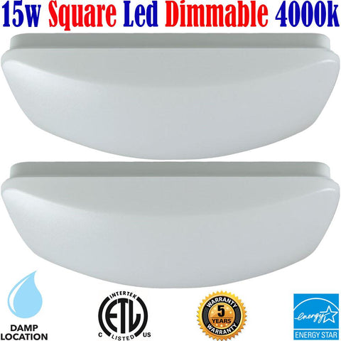 Kitchen Ceiling Lights: Canada 2pack Led 15w 4000k Hallway Bathroom Bedroom - LED Light World