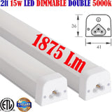 Dimmable Under Counter Led Lights, Canada Led 2ft 15w 2pack 5000k 1875Lm - LED Light World