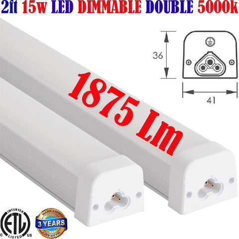 Dimmable Under Counter Led Lights, Canada Led 2ft 15w 2pack 5000k 1875Lm - LED Light Canada