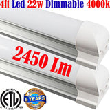 Dimmable Under Cabinet Lighting: Canada T8 2pack 4ft 22w 4000k Garage Shop - LED Light World