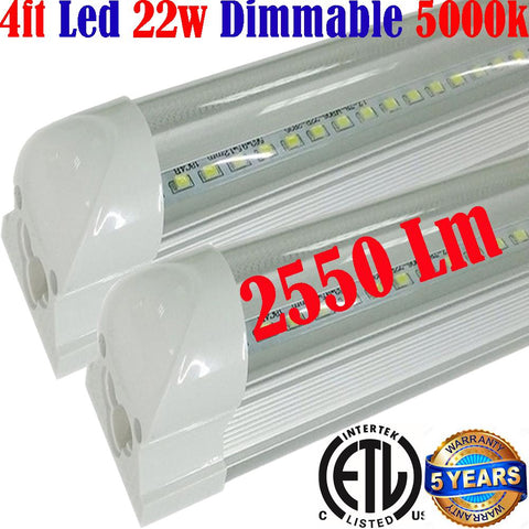 Dimmable Under Cabinet Lighting: Canada T8 2pack 4ft 22w Clear 5000k Shop - LED Light World