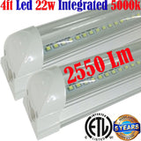 Garage Ceiling Light Fixtures: Canada T8 2pack 4ft Led 22w Clear 5000k - LED Light World