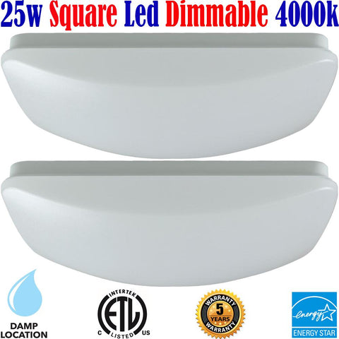 Bedroom Light Fixtures Canada: 2 pack Led 25w 4000k Kitchen Dining Living Room - LED Light Canada