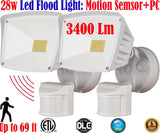 Motion Sensor Led Light: Canada 2pack 40w 6000k White Outdoor Porch - LED Light World