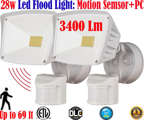 Motion Sensor Led Light: Canada 2pack 40w 6000k White Outdoor Porch