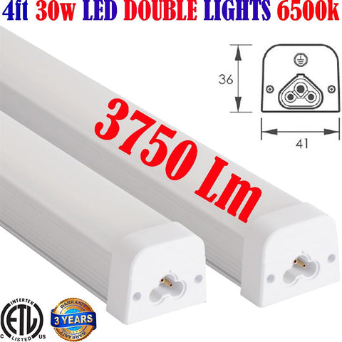 Under Cabinet Lighting, Canada: 2pack Led 2ft 15w 1875Lm 5000k Kitchen Counter - LED Light Canada