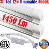 Kitchen Counter Lights: Canada T8 3ft Dimmable Led 2pack 12w 5000k Shop - LED Light World