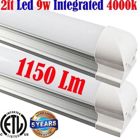 Led Shop Lights Canada: T8 2pack 2ft 9w 4000k Shop Kitchen Workshop - LED Light World