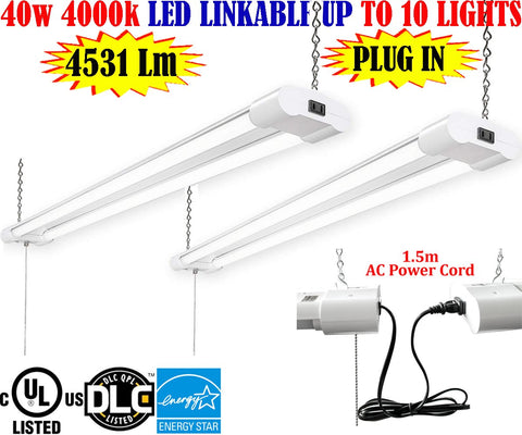 Home Lighting Canada: 4ft 40w 2pack 4000k Garage Workshop Shop Office - LED Light World