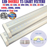 Led Tube Lights Canada: 4ft 2pack 40w Clear 5000k Garage Office Shop Home - LED Light World