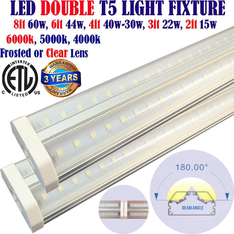 Led Under Cabinet Lighting Canada: 2pack 3ft 22w Clear 6000k Brightest Kitchen - LED Light World