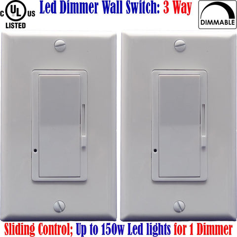 3 Way Dimmer Switch For Led Lights: Canada 2pack Three Way Dimmable - LED Light World