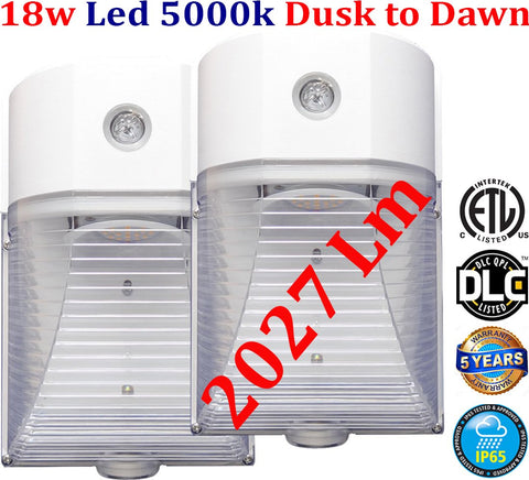 Outdoor House Lights, Canada 2pack Led 18w 5000k Exterior Garage Porch - LED Light World