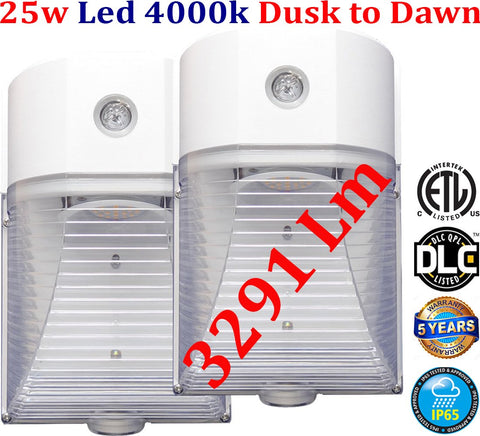 Outdoor Stair Lights, Canada 25w 4000k 2pack Led House Garage Porch - LED Light World