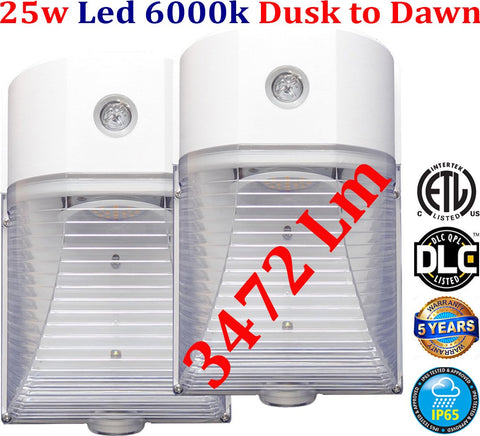 Outdoor Garage Lights, Canada 2pack Led 25w 6000k Exterior House Stair - LED Light World