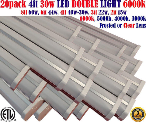 4 Foot Led Shop Lights Canada: 30w 20pack 6000k Garage Workshop Office - LED Light World
