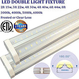 Very Bright Led Lights: 4ft 2 Pack Clear 30w 6000k Bright Garage Shop