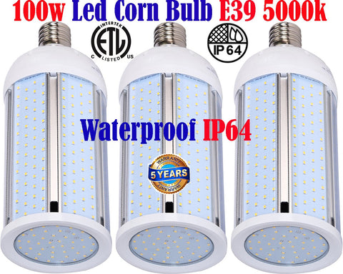 Led Corn Bulbs Canada 100w 3pack 5000k E39 Mogul Garage Warehouse Shop Barn - LED Light World