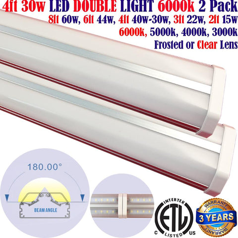 Led Tube Lights Canada: 2pack 4ft 30w 6000k Garage Shop Workbench Home
