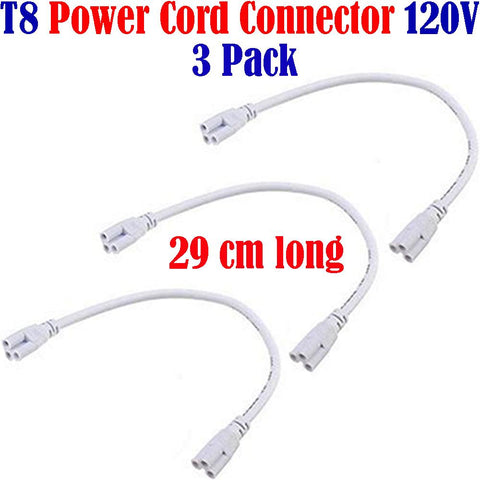 Under Cabinet Light Connectors, Canada: 3pack for T8 Single Tube Light Fixtures 120V - LED Light World