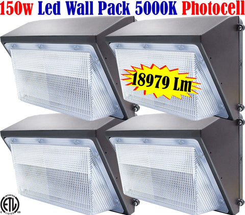 Wall Pack Lights: Canada Led 4pack 150w 5000k Yard Garage Backyard - LED Light World