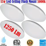Bathroom Light Fixtures Canada 4 Pack 15w 5000k Bedroom Kitchen Stairs Hallway - LED Light World