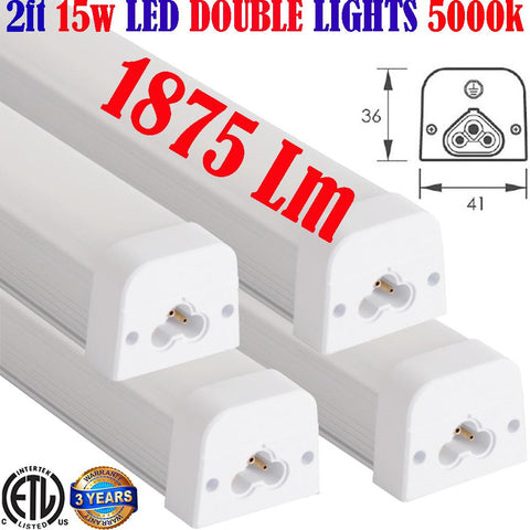 Under Counter Lighting, Canada: 4pack 2ft 15w 1875Lm 5000k Kitchen Cabinet - LED Light World
