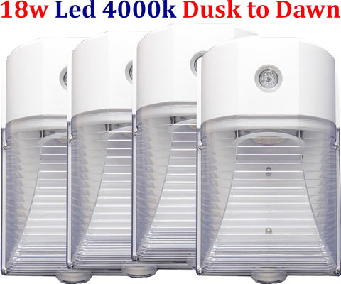 Outdoor Lighting Canada: 4pack Led 18w 4000k Yard Exterior House Stair - LED Light World