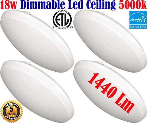 Bathroom Light Fixtures Canada: 4pack Led 18w 5000k Bathroom Kitchen Hallway - LED Light World