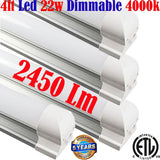 Led Shop Lights Canada, Dimmable: 4pack 4ft 22w 4000k Garage Linkable - LED Light World