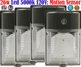 Outdoor Led Motion Sensor Light, Canada 4 Pack 26w 5000k Porch Garage - LED Light World